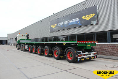 6-axle not extendable flat trailer (385 tires)