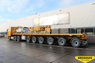 6-axle not extendible flat trailer (385 tires)